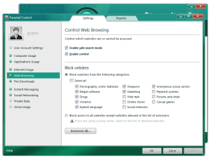 Kaspersky Internet Security 2011 offers numerous secondary features, including parental controls