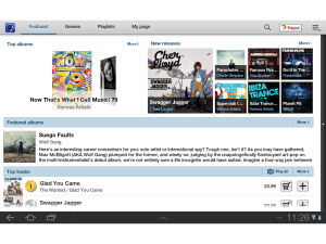 Galaxy Tab 10.1 - Samsung's Music Hub