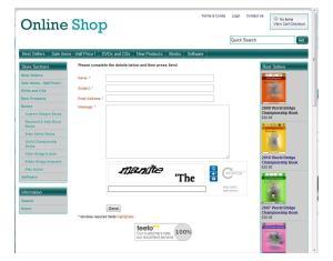 Actinic Business 11 - reCAPTCHA