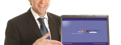 Windows XP laptop salesman