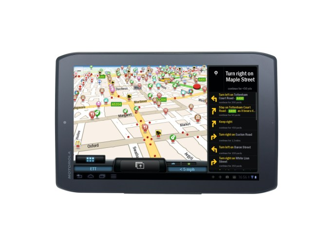 CoPilot Live Premium on Android tablet