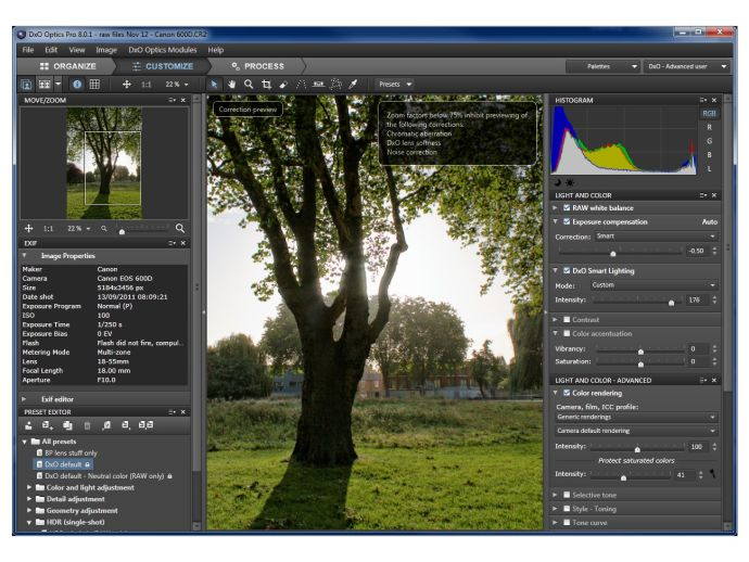DxO Optics Pro 8 Standard