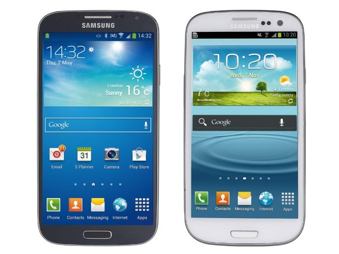 Samsung Galaxy S4 v Samsung Galaxy S3 comparison