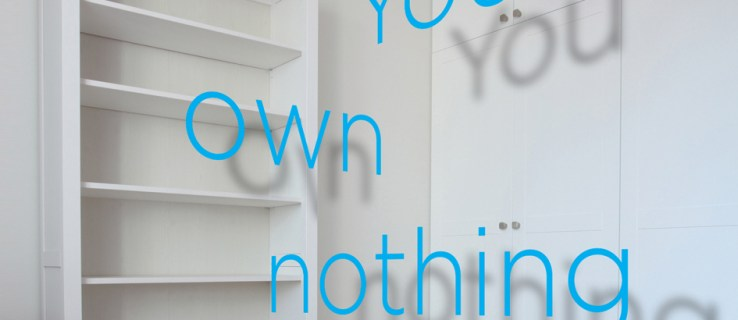 You own nothing: does it matter?