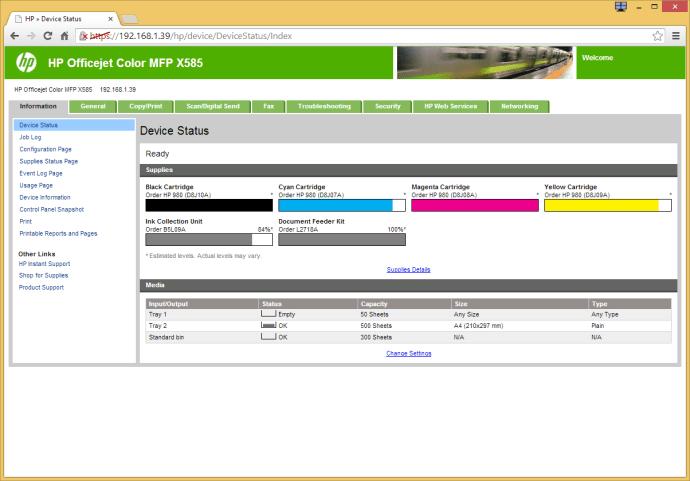 HP Officejet Enterprise Color X585dn