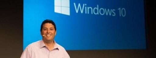 Terry Myerson revealing Windows 10