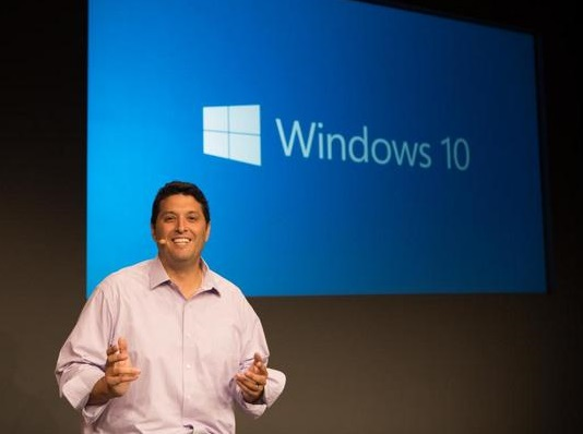 Terry Myerson revealing Windows 10