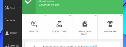 Avast Free Antivirus 2015 review - main UI