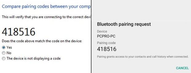 Transfer files from PC to Android Bluetooth