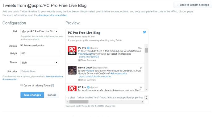 How to create a free live blog: step four