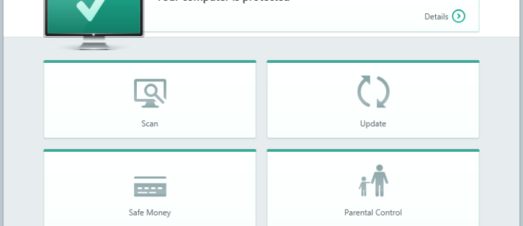 Kaspersky Internet Security 2015 - main user interface