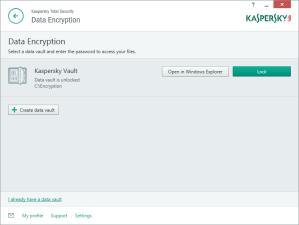 Kaspersky Total Security Multi-Device - Encryption