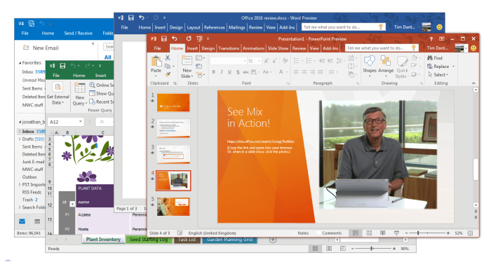 Microsoft Office 2016 - new colourful theme