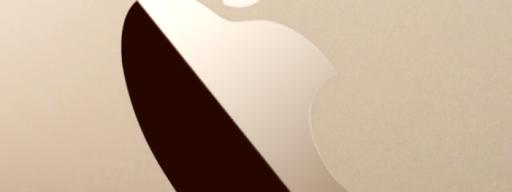 Apple MacBook Gold Logo