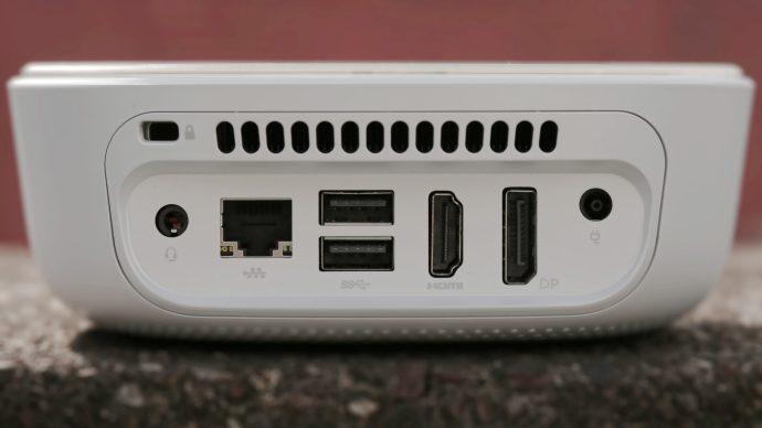 HP Pavilion Mini: Rear panel closeup