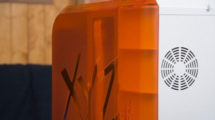 XYZprinting da Vinci Junior review: Rear, left side and logo