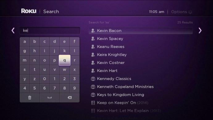 Roku 2 screenshot: Universal search