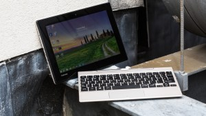 Toshiba Satellite Click Mini review: A latched hinge means the Click Mini can be used as a compact laptop or tablet