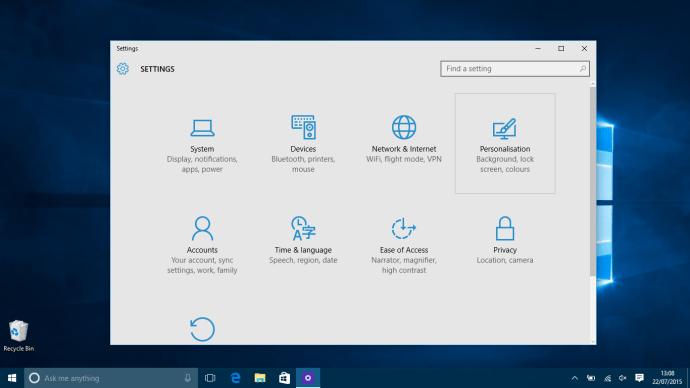 Microsoft Windows 10 How to change Wallpaper - Settings Menu