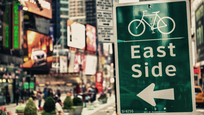 cycling-sign-on-new-york-times-square