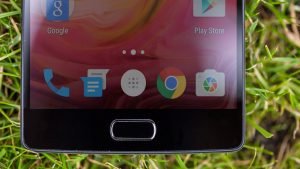 OnePlus 2 review: The phone's home button has a fingerprint reader built into it