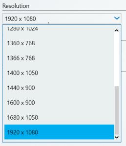 Intel screen resolution