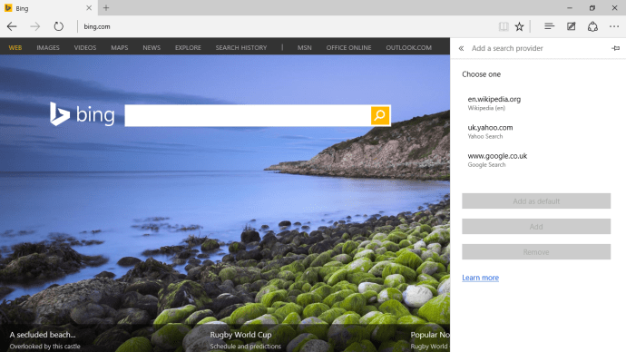 Windows 10 tips, tricks and help - Bing to Google Search
