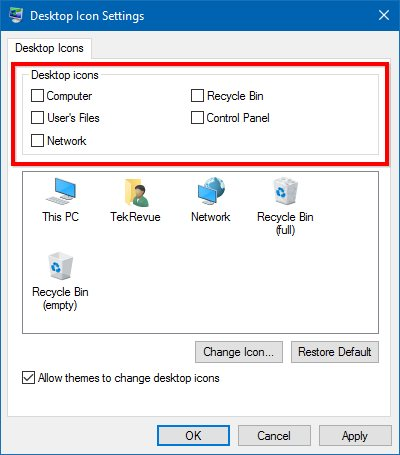 windows 10 desktop icon settings