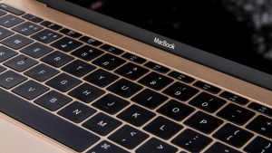 Apple MacBook (2016) keyboard closeup