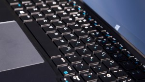 Dell XPS 12 keyboard closeup