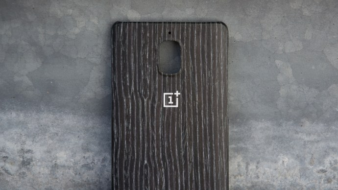 OnePlus 3 official case - black apricot wood