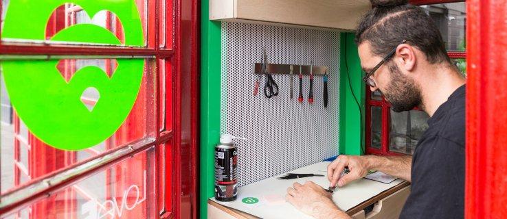Meet the man repurposing London phone boxes as smartphone repair points