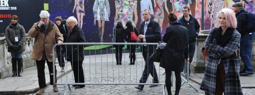 London Fashion Week show entrance