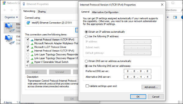 How to fix ERR_NETWORK_CHANGED errors in Windows-3