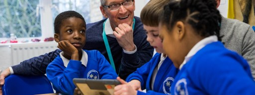 Apple CEO Tim Cook at Woodberry Down School