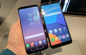 Samsung Galaxy S8 (L) vs LG G6 (R)