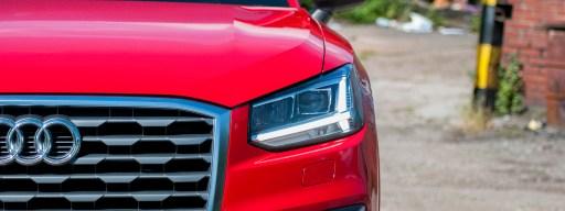 Audi Q2 review - front left headlight view