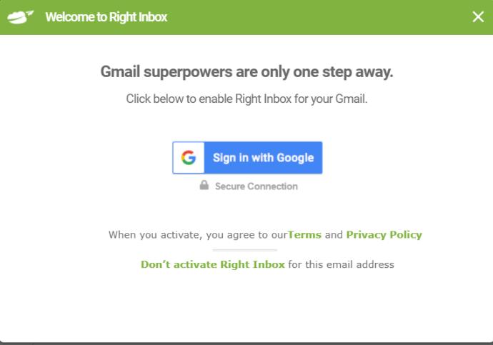Right Inbox prompt
