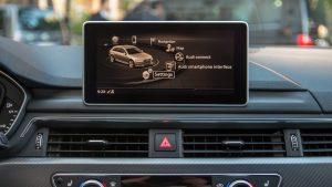 Audi RS4 Avant MMI options screen