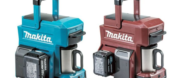 Makita's rugged coffee maker runs off drill batteries and is perfect for building sites