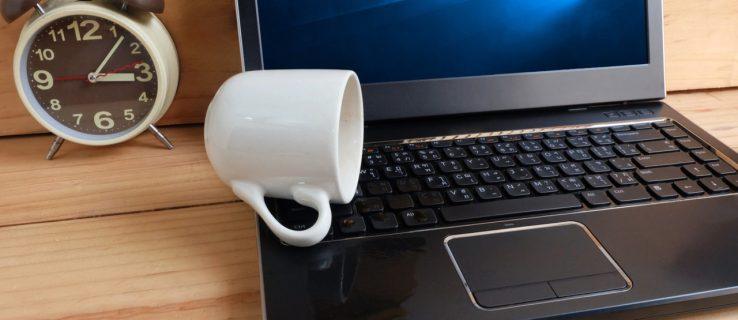 laptop spilled keyboard
