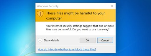 these files might be harmful to your computer