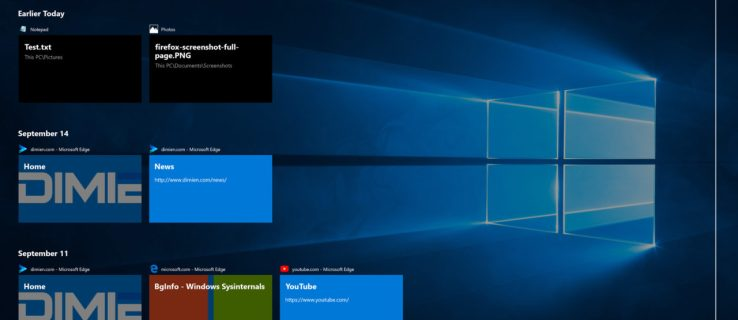 windows 10 task view timeline