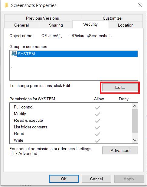 File Security Menu 2