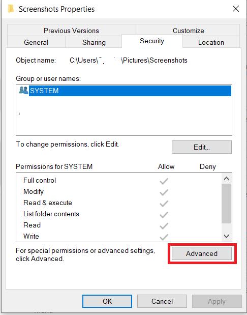 File Security Menu