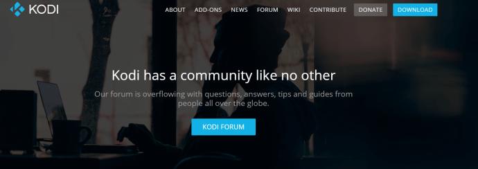 Kodi homepage.