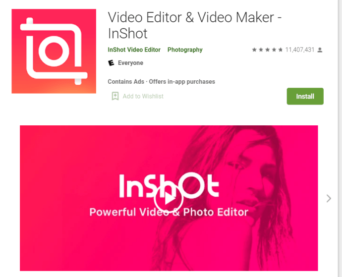 Google Play Store - InShot