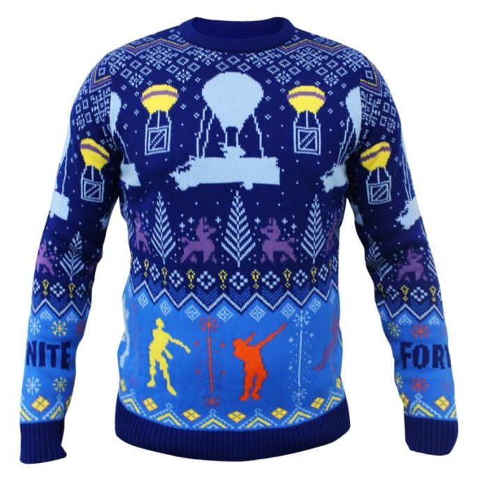 best_geeky_christmas_jumpers_fortnite