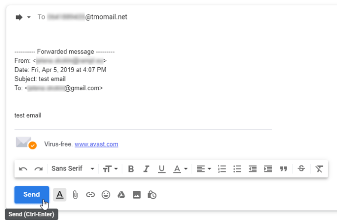 Email to a Text Message