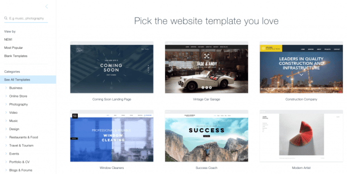 Change Your Wix Template